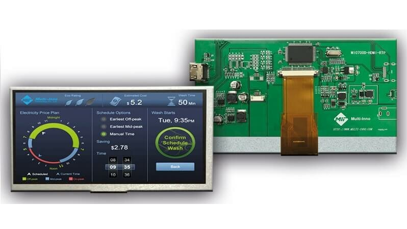 Small format TFT display with HDMI-interface from MULTI-INNO.