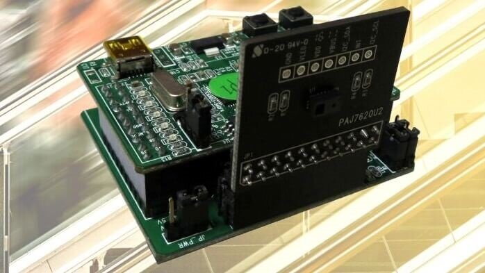 PIXART's PAC7620 integrates gesture recognition function with general I2C interface into a single chip.