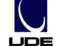The UDE company logo.