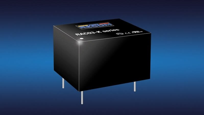 RAC03-K is a 3 watt AC/DC power supply by RECOM, the smallest in class, for a wide range of applications.