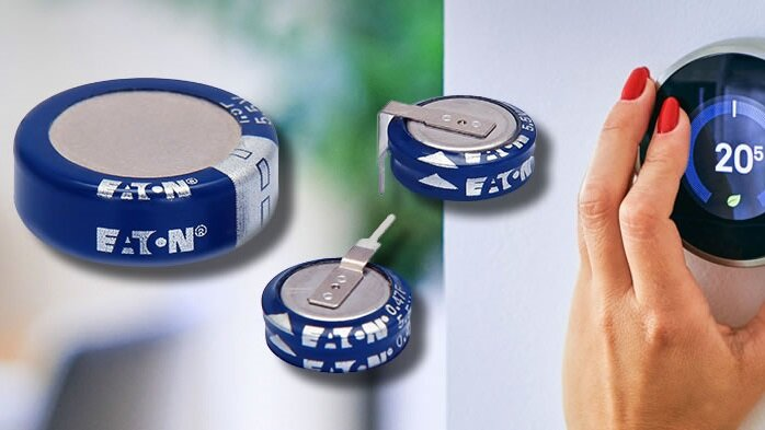 EATON offers a wide selection of coin-cell-super-capacitors in various mechanical versions.