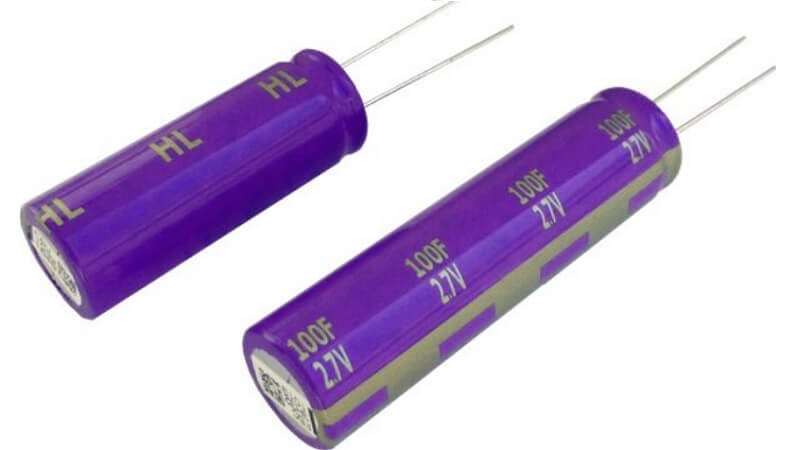 "New ""Gold Cap"" double layer capacitor from PANASONIC."