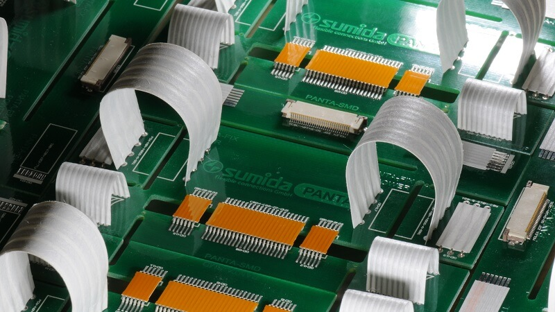 PANTA SMD System from SUMIDA Flex for a flexible connection of PCBs.