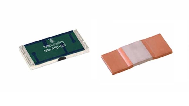Current sense resistors from ISABELLENHUETTE with a wide resistance range.