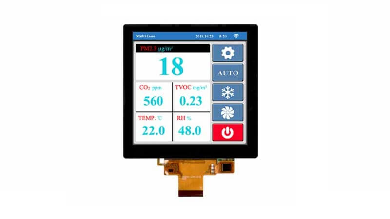"Square 4.0"" Touch-Display with capacitive touch by MULTI-INNO."