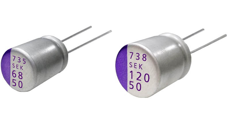 Aluminum-Polymer-Capacitors with hgh ripple currents at high temperature and voltage.