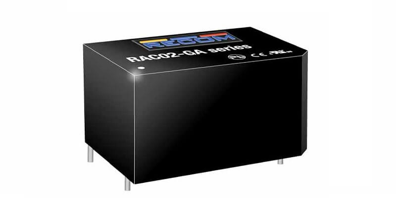 The RAC01/02-GA/GB series from RECOM are low cost AC/DC power supplies.