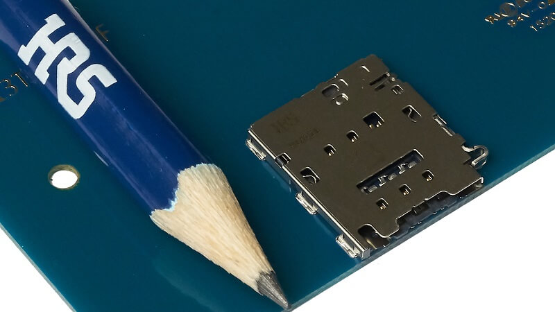 Ultra Low Profile Card Connectors by HIROSE.