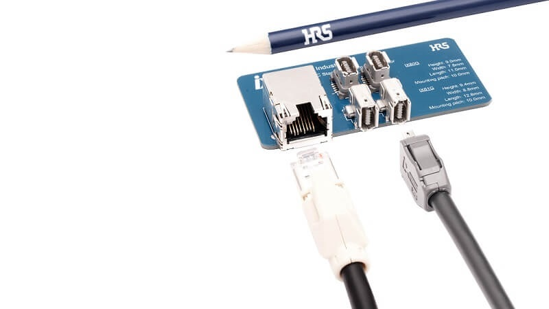 HIROSE ix Industrial™: Robust series of connectors with new vertical receptacle.