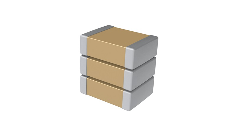 Stacked ceramic capacitors from KEMET allow due to space reduction on the PCB a miniaturization of designs.