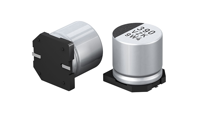 The new hybrid capacitor of the ZKU series from PANASONIC with guaranteed lifetime of 4.000h at 125°C.